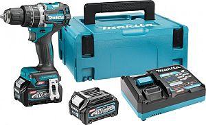 Slika izdelka: Akumulatorski vibracijski vrtalnik vijačnik MAKITA 40V XGT HP002GD201