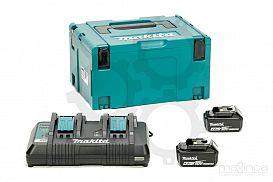 Slika izdelka: Set akumulatorjev MAKITA (2 x 18V/4,0Ah + DC18RD)