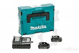 Slika izdelka: Set akumulatorjev MAKITA (2 x 18V/1,5Ah + DC18SD)
