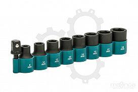 Slika izdelka: 9 - delni set natičnih ključev z adapterjem MAKITA