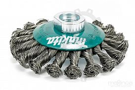 Slika izdelka: Stožčasta žična krtača - 100 mm